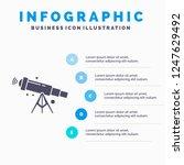 telescope  astronomy  space ... | Shutterstock .eps vector #1247629492