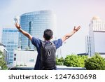 rear view of young man asian... | Shutterstock . vector #1247630698