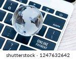 online payment shopping ... | Shutterstock . vector #1247632642