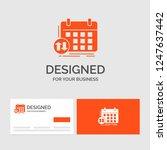 business logo template for... | Shutterstock .eps vector #1247637442