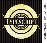 typescript gold badge | Shutterstock .eps vector #1247640388