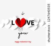 floating heart for valentine's... | Shutterstock .eps vector #1247640535