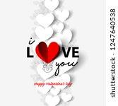 floating heart for valentine's... | Shutterstock .eps vector #1247640538
