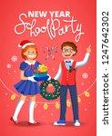school children having fun at... | Shutterstock .eps vector #1247642302