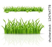 green grass and leaf. vector... | Shutterstock .eps vector #124764778