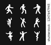dancing vector icon.... | Shutterstock .eps vector #1247647945
