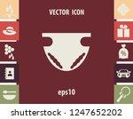 nappy icon  vector design... | Shutterstock .eps vector #1247652202