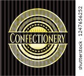 confectionery shiny badge | Shutterstock .eps vector #1247656252