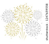 gold and bright firework on... | Shutterstock .eps vector #1247659558