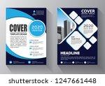 brochure design  cover modern... | Shutterstock .eps vector #1247661448