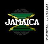 jamaica flag holiday theme...   Shutterstock .eps vector #1247661655