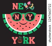 new york brooklyn sport wear... | Shutterstock . vector #1247663722