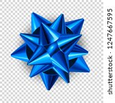 blue vector bow knot isolated... | Shutterstock .eps vector #1247667595