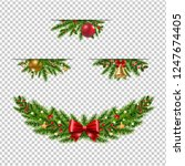 christmas garland collection... | Shutterstock .eps vector #1247674405