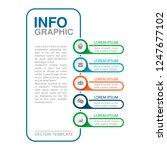 vector infographic template for ... | Shutterstock .eps vector #1247677102