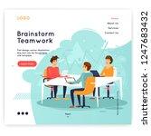 site template  teamwork ... | Shutterstock .eps vector #1247683432