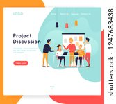 site template  teamwork ... | Shutterstock .eps vector #1247683438