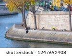 embankment of the seine at... | Shutterstock . vector #1247692408