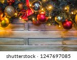 christmas and new year holidays ... | Shutterstock . vector #1247697085
