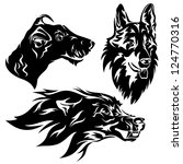 aggressive,angry,animal,black,canine,cartoon,clever,clip-art,collection,coyote,cute,design,dog,domestic,element