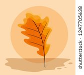 dry leaves design | Shutterstock .eps vector #1247705638