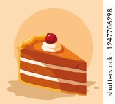 piece of cake icon  | Shutterstock .eps vector #1247706298