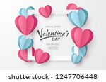 valentines day sale background... | Shutterstock .eps vector #1247706448