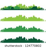 set of cityscapes | Shutterstock .eps vector #124770802