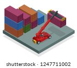 isometric mobile container... | Shutterstock .eps vector #1247711002