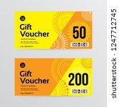 gift voucher template with... | Shutterstock .eps vector #1247712745