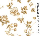 trendy floral background with... | Shutterstock .eps vector #1247717782