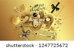 christmas. merry christmas and... | Shutterstock .eps vector #1247725672