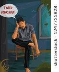 need soul  soul eater  soul... | Shutterstock . vector #1247725828