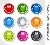 vector circular blank glossy... | Shutterstock .eps vector #124772992