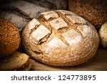 close up of traditional bread. | Shutterstock . vector #124773895