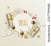 new year and christmas greeting ... | Shutterstock .eps vector #1247749468