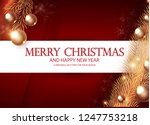 merry christmas elegant design... | Shutterstock .eps vector #1247753218