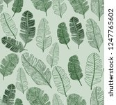 seamless pattern with hand... | Shutterstock . vector #1247765602