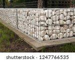 new garden fence using metal... | Shutterstock . vector #1247766535