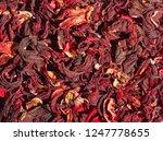 dried hibiscus tea   Shutterstock . vector #1247778655