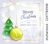 merry christmas. happy new year.... | Shutterstock .eps vector #1247783548