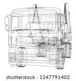 garbage truck concept. 3d... | Shutterstock . vector #1247791402