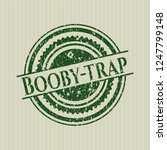 green booby trap distressed... | Shutterstock .eps vector #1247799148
