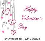 happy valentine    s day | Shutterstock . vector #124780036