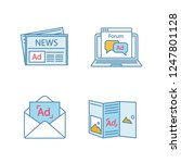 advertising channels color...   Shutterstock .eps vector #1247801128
