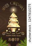 vertical banner with christmas... | Shutterstock .eps vector #1247810275