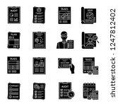 audit glyph icons set.... | Shutterstock .eps vector #1247812402