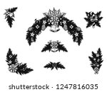 set of christmas ornament... | Shutterstock .eps vector #1247816035