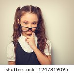 thinking serious skeptical... | Shutterstock . vector #1247819095