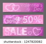 discount banners with shiny... | Shutterstock .eps vector #1247820082